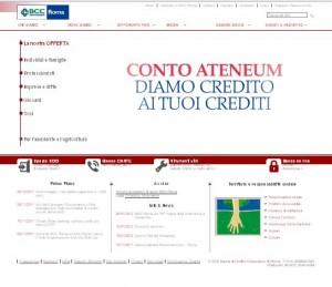Sito ufficiale della Banca di Credito Cooperativo di Roma
