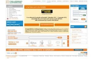 il sito ufficiale della Cassa di Risparmio di Civitavecchia