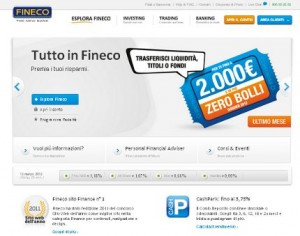 Il sito ufficiale FINECO