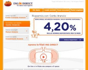 Il sito ufficiale di ING Direct