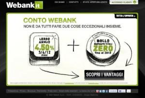 Il sito ufficiale Webank