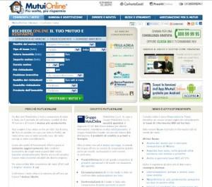 Confronto dei mutui su MutuiOnLine