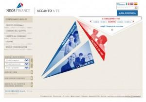 Il sito ufficiale di Neos Finance