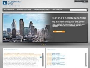 Il sito ufficiale della Banca Albertini Syz & C