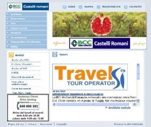 Il sito ufficiale della BCC dei Castelli Romani