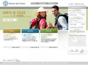 Il sito ufficiale della Banca del Fucino