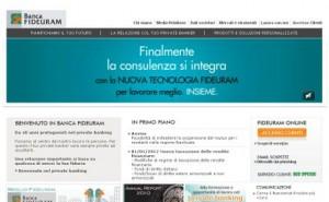 Sito ufficiale della Banca Fideuram