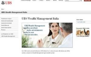 Il sito ufficiale di UBS Italia