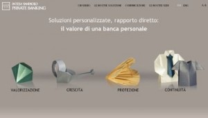 Il sito ufficiale di Intesa Sanpaolo Private Banking