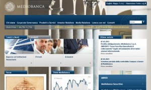 Il sito ufficiale di Mediobanca